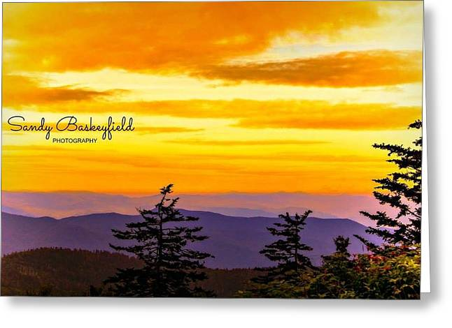 Tennessee Landmark Greeting Cards - Purple Mountains Majesty Greeting Card by Sandy Baskeyfield