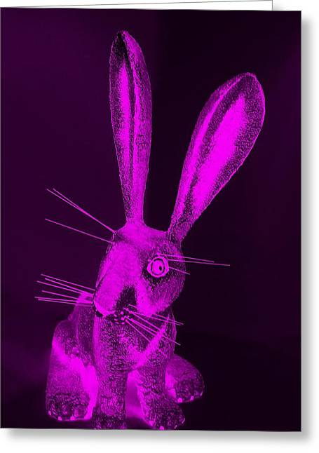 Bugs Bunny Greeting Cards - Purple New Mexico Rabbit Greeting Card by Rob Hans