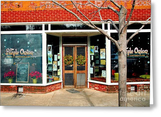 Jeff Mcjunkin Greeting Cards - Purple Onion I Saluda NC Greeting Card by Jeff McJunkin