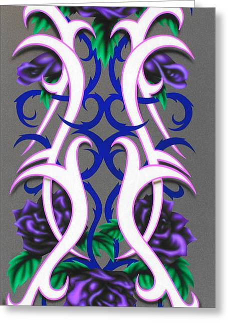 Kustom Graphics Greeting Cards - Purple Passion Greeting Card by Augustine Mattei
