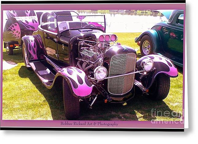 Print On Canvas Greeting Cards - Purple Passion Greeting Card by Bobbee Rickard
