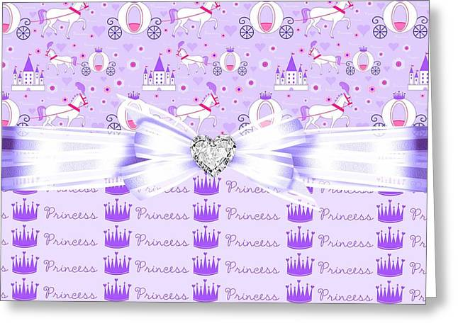 Daughter Gift Greeting Cards - Purple Passion Princess  Greeting Card by Debra  Miller