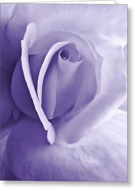 Abstract Rose Abstract Greeting Cards - Purple Passion Rose Flower Greeting Card by Jennie Marie Schell