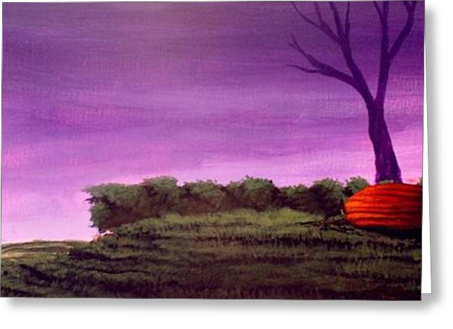 Purple Patch Greeting Card by Erin Scott