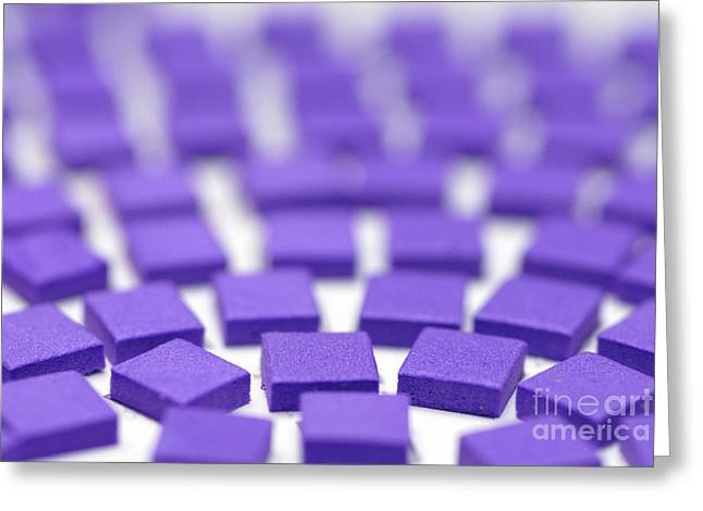Craft Greeting Cards - Purple Pattern Greeting Card by Amy Cicconi