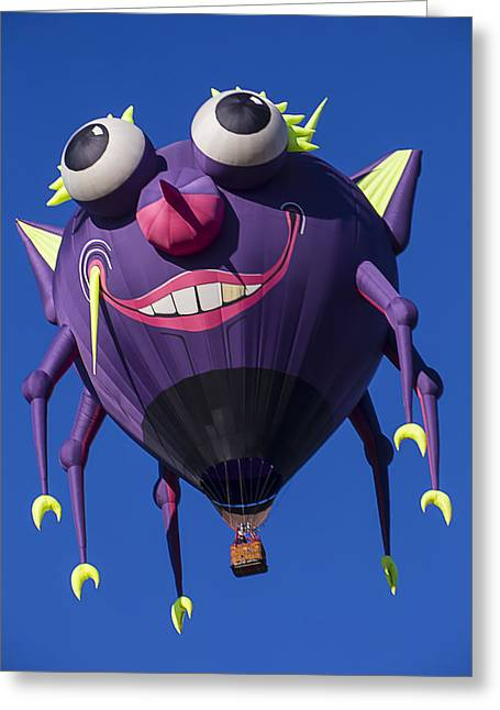 Ballooning Greeting Cards - Purple people eater Greeting Card by Garry Gay