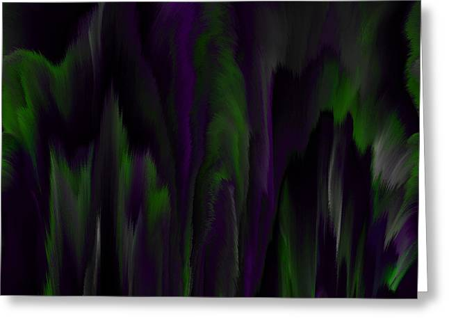 Purple Plumage Greeting Card by Patricia Kay