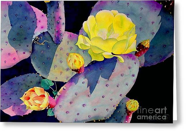 Prickly Greeting Cards - Purple Prickly Pear Greeting Card by Robert Hooper