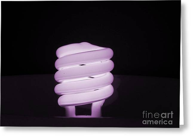 Florescent Lights Greeting Cards - Purple Radiance Greeting Card by Robin Davis