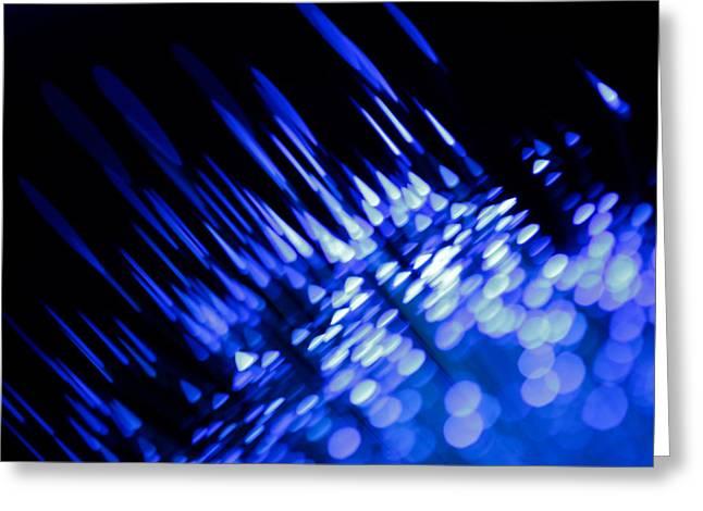 Science Fiction Art Greeting Cards - Purple Rain Greeting Card by Dazzle Zazz