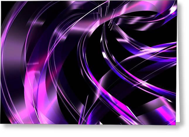 Digital_art Greeting Cards - Purple Ribbon Greeting Card by Louis Ferreira