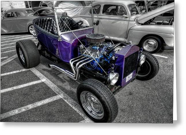 Ford Greeting Cards - Purple Rod 001 Greeting Card by Lance Vaughn