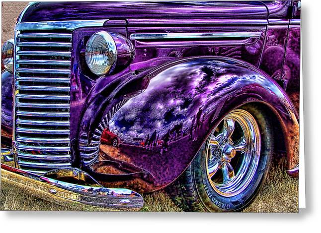 Purple Greeting Card by Ron Roberts