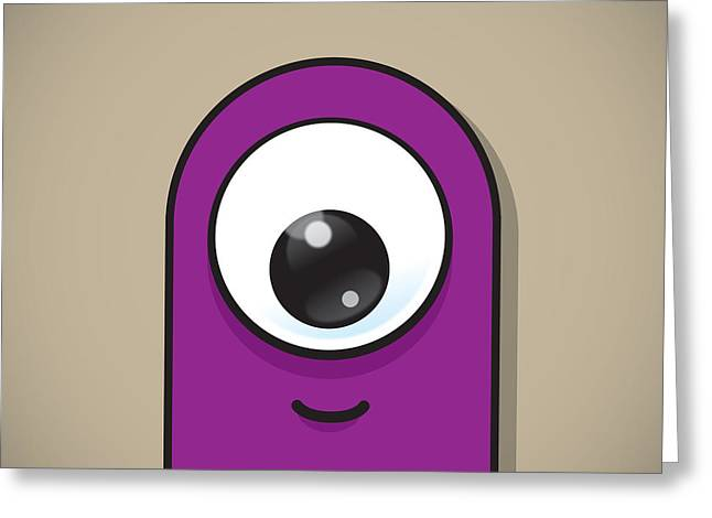 Eyeball Greeting Cards - Purple Greeting Card by Samuel Whitton