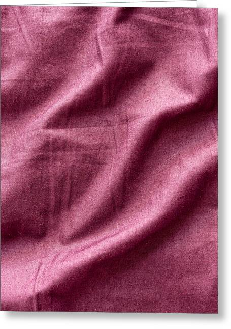 Bed Linens Greeting Cards - Purple sheet Greeting Card by Tom Gowanlock