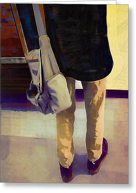 New Britain Digital Art Greeting Cards - Purple Shoes at the Museum Greeting Card by RC deWinter