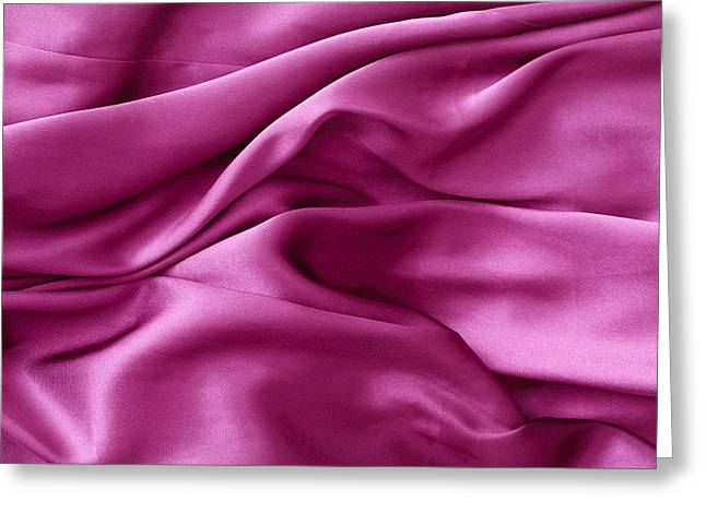 Purple Abstract Greeting Cards - Purple silk Greeting Card by Tom Gowanlock