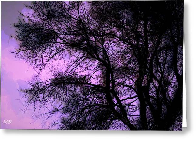 Fall Photos Paintings Greeting Cards - Purple Sky Greeting Card by Michael James Greene