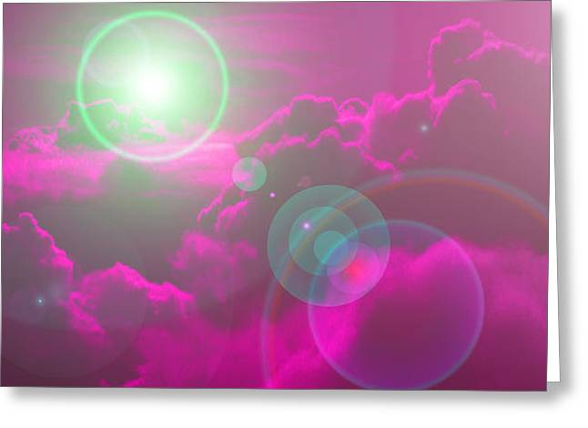 Himmel Mixed Media Greeting Cards - Purple Sky Greeting Card by Ramon Labusch