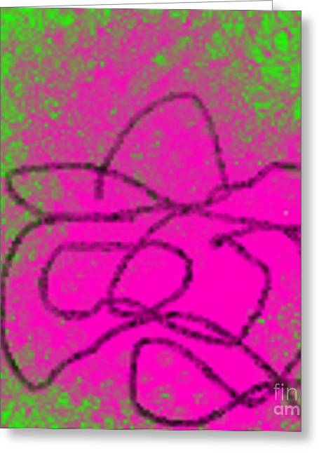 Etc. Digital Art Greeting Cards - Purple Sleeping Cowboy Greeting Card by James Eye