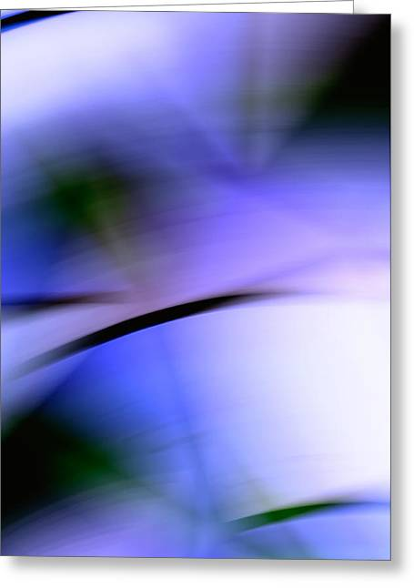 Cheap Abstract Art Greeting Cards - Purple Slices - Abstract Art Greeting Card by Laria Saunders