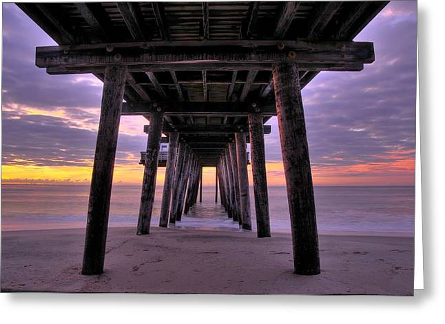 Purple Sunrise Greeting Card by Dan Myers