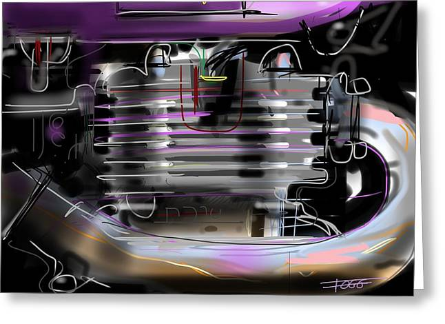 Basement Art Greeting Cards - Purple Tank Greeting Card by Peter Fogg