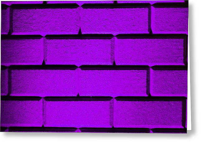 Geometric Effect Photographs Greeting Cards - Purple Wall Greeting Card by Semmick Photo
