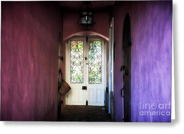 Southern Design Greeting Cards - Purple Walls Greeting Card by John Rizzuto