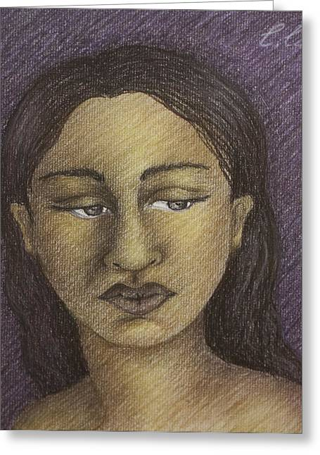 Diversity Pastels Greeting Cards - Purple Woman Greeting Card by Claudia Cox