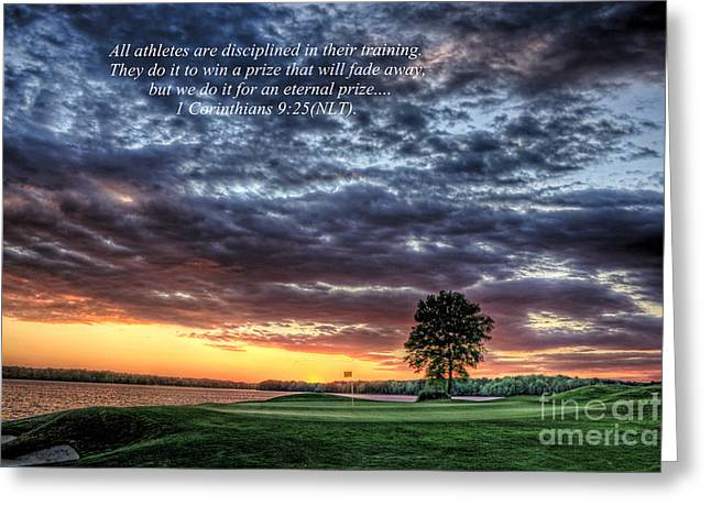 Golf Pictures Greeting Cards - Purpose Greeting Card by Reid Callaway
