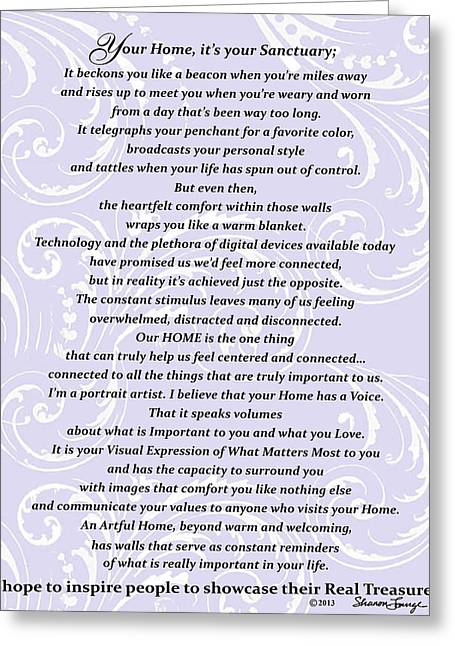 Artist Statements Greeting Cards - Purpose Statement  Greeting Card by Sharon Lange
