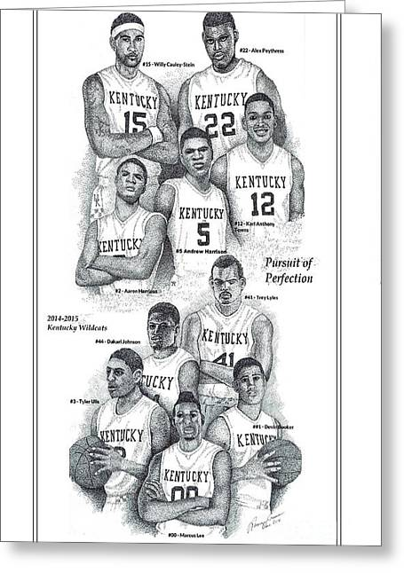 Ncaa Drawings Greeting Cards - Pursuit of Perfection Greeting Card by Tanya Crum
