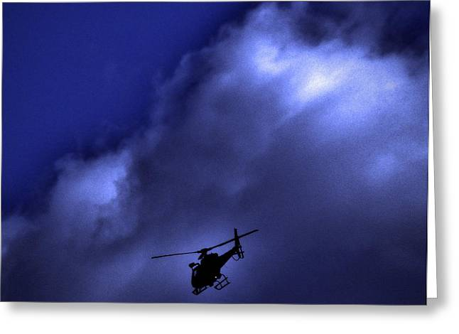 Law Enforcement Digital Art Greeting Cards - Pursuit Greeting Card by Robert Geary
