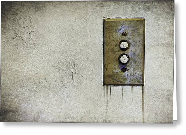 Electricity Greeting Card featuring the photograph Push Button by Scott Norris