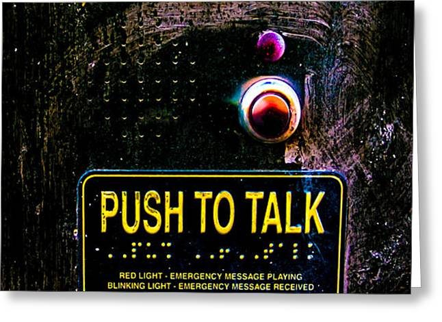 Push To Talk Greeting Card by Bob Orsillo