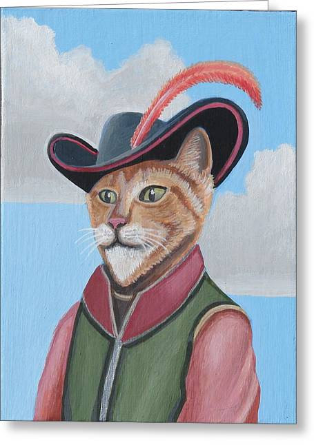 Puss Greeting Cards - Puss In Boots Greeting Card by Stuart Swartz
