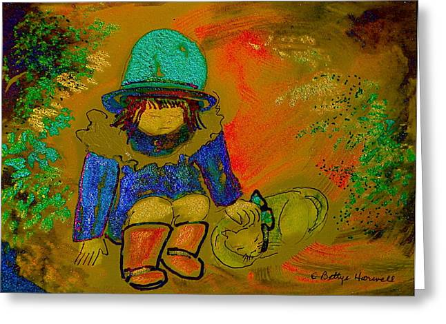 Occasion Drawings Greeting Cards - Puss n Boots Greeting Card by Bettye  Harwell
