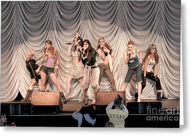 Dancer Pictures Greeting Cards - Pussycat Dolls Greeting Card by Front Row  Photographs
