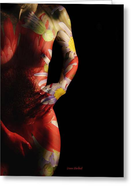 Female Body Greeting Cards - Put A Little Spring In Your Step Greeting Card by Donna Blackhall