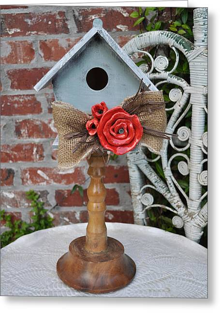 Natural Ceramics Greeting Cards - Put On A Pedestal Greeting Card by Amanda  Sanford
