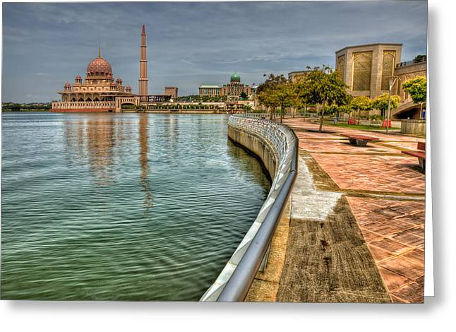 Domes Digital Greeting Cards - Putra Mosque Greeting Card by Adrian Evans