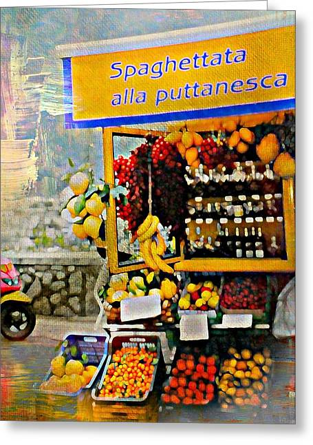 Southern Italy Greeting Cards - Puttanesca Greeting Card by Diana Angstadt