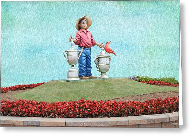 Us Open Greeting Cards - Putter Boy - Pinehurst No. 2 Greeting Card by Paulette B Wright