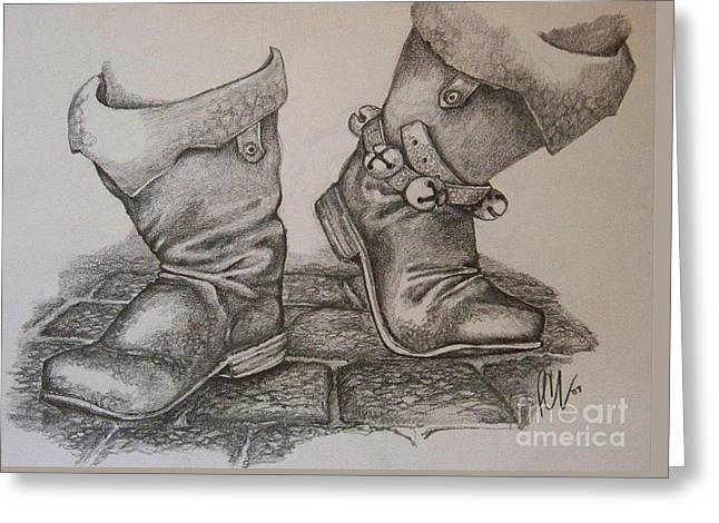Puttin' On My Dancin' Boots Greeting Card by Peter C Lavin