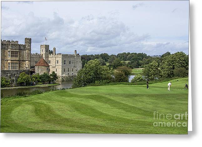 Putt Out Greeting Cards - Putting at Leeds Castle Golf Course Greeting Card by Chris Thaxter