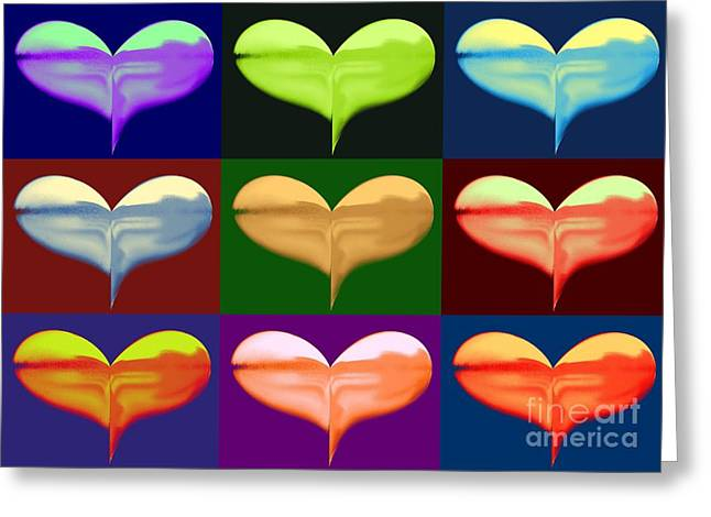 Gold Buyers Greeting Cards - Putting Heart in My Art collage Greeting Card by Gail Matthews