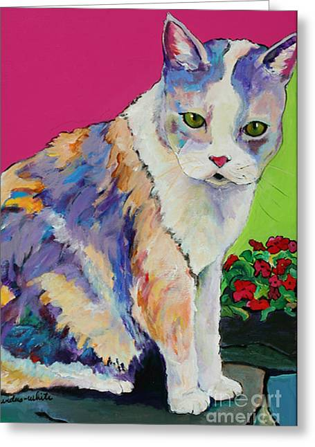 Kitten Prints Greeting Cards - Puurl Greeting Card by Pat Saunders-White