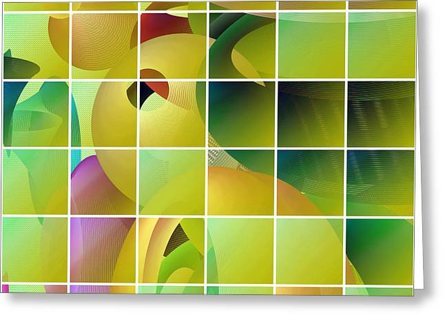 Olive Green Greeting Cards - Puzzle solved Greeting Card by Gaspar Avila