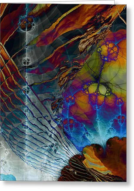 Abstract Digital Digital Greeting Cards - Pv-08 Greeting Card by Dennis Brady